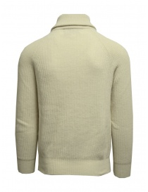 Ballantyne Raw Diamond white pullover with zipped high neck