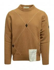 Ballantyne Raw Diamond pullover girocollo color cammello online