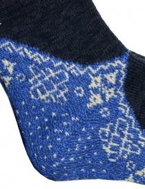 Kapital black socks with blue heel