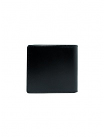 Kapital men's wallet in black leather with smile