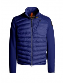 Parajumpers Jayden intense blue down jacket with fabric sleeves PMJCKWU01 JAYDEN ROYAL 516