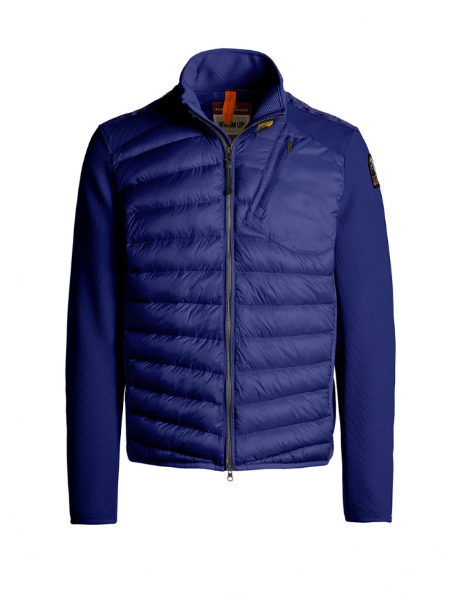 Parajumpers Jayden intense blue down jacket with fabric sleeves PMJCKWU01 JAYDEN ROYAL 516 mens jackets online shopping