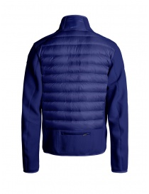 Parajumpers Jayden intense blue down jacket with fabric sleeves buy online