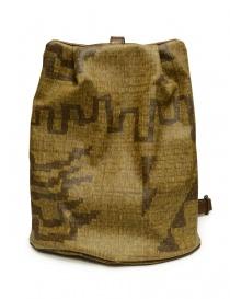 Kapital Hopi backpack in golden canvas and leather K2105XB555 order online