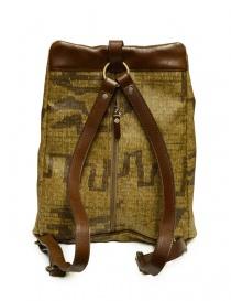 Kapital Hopi backpack in golden canvas and leather