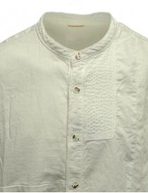 Kapital KATMANDU white shirt with Mandarin collar