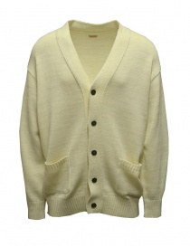 Kapital white cardigan with smiley patches on the elbows K2103KN070 ECRU order online
