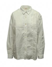 Kapital camicia bianca in cotone e lino online