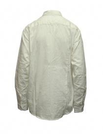 Kapital camicia bianca in cotone e lino