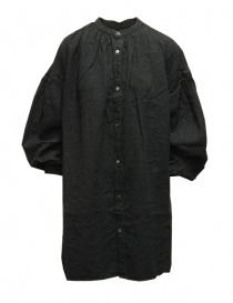Kapital black oversize GYPSY blouse in linen K2103LS044 BLACK order online