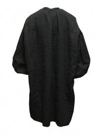Kapital camicia oversize GYPSY nera in lino