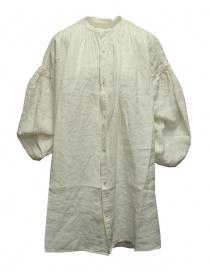 Camicie donna online: Kapital GYPSY blusa oversize in tela di lino bianca