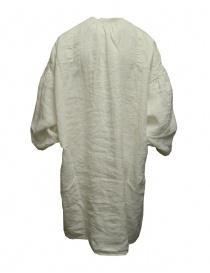 Kapital GYPSY blusa oversize in tela di lino bianca