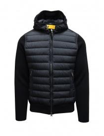 Parajumpers Illuga black down jacket with wool sleeves online