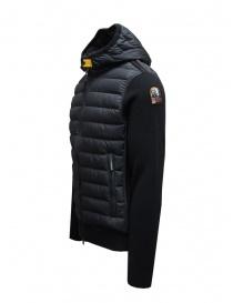 Parajumpers Illuga black down jacket with wool sleeves