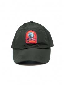 Parajumpers cappello impermeabile verde con logo rosso