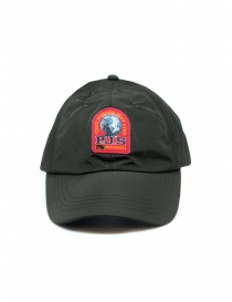 Parajumpers green waterproof cap with red logo