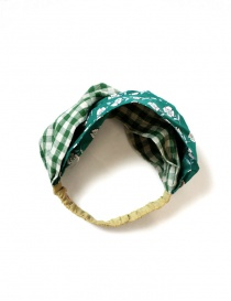 Kapital green hair band with flowers K2104XH546 GREEN order online