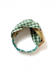 Kapital green checkered headband K2104XH545 GREEN order online