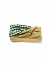 Kapital fascia per capelli verde a quadretti