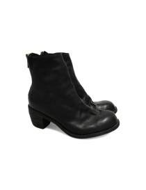 Womens shoes online: Guidi 4006 black leather ankle boots