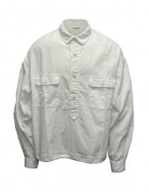 Kapital anorak shirt in white twill K2109LS010 WHITE order online