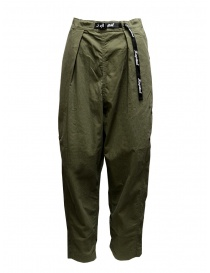 Kapital pantaloni ripstop khaki con bottoni laterali online