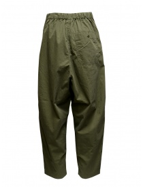 Kapital khaki ripstop trousers with side buttons