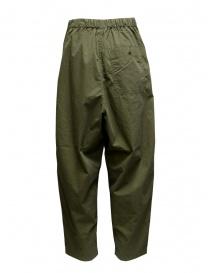 Kapital pantaloni ripstop khaki con bottoni laterali