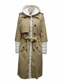 Parajumpers Ronney white and cappuccino quilted trench coat online