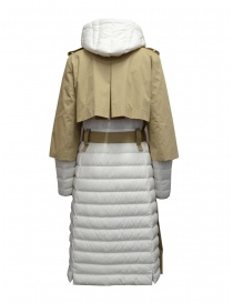 Parajumpers Ronney white and cappuccino quilted trench coat