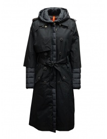 Parajumpers Ronney black padded trench coat online