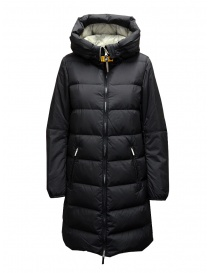 Parajumpers Tracie long black down jacket with hood