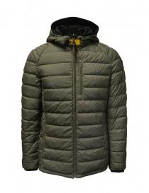 Mens jackets online: Parajumpers Reversible khaki-black down jacket