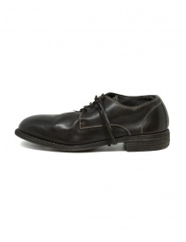 Guidi 992 dark brown horse leather shoes