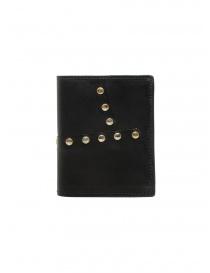 Portafogli online: Guidi PT3_RV portafoglio in pelle canguro con borchie