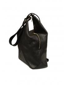 Guidi BK2 shoulder bucket bag in black horse leather