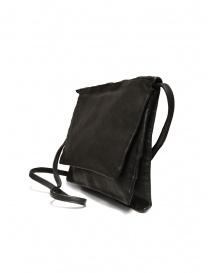Guidi PKT04M three-pocket bag in black kangaroo leather