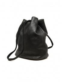 Guidi BK3 bucket bag in black horse leather