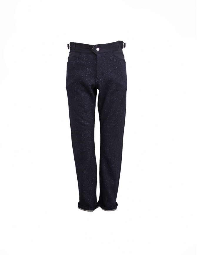 White Mountaineering navy trousers WM1273420NAV mens trousers online shopping