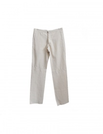 Label Under Construction light beige linen pants online