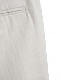 Pantalone Label Under Construction lino beige chiaro prezzo