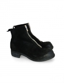 Guidi PL1 black suede leather ankle boots PL1 312T