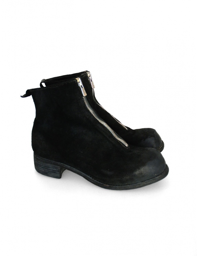 Guidi PL1 black suede leather ankle boots PL1 312T mens shoes online shopping