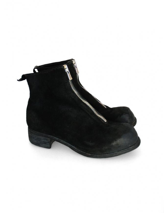 Stivaletto Guidi PL1 in pelle nera scamosciata PL1 312T calzature uomo online shopping