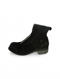 Guidi PL1 black suede leather ankle boots buy online