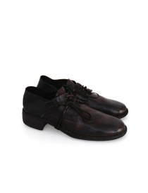 Dark brown leather Guidi 772 shoes 772S HORSE F