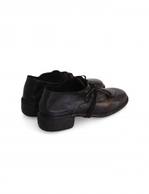 Dark brown leather Guidi 772 shoes