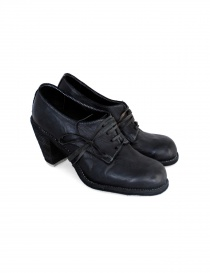 Womens shoes online: Black leather Guidi 3002 shoes