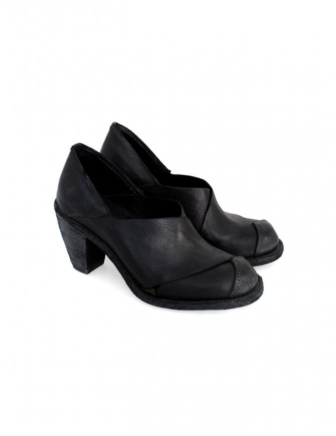 Black leather Guidi 2004 shoes 2004 BLKT womens shoes online shopping